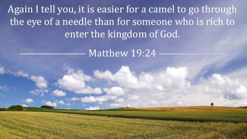 Mathew 19:24